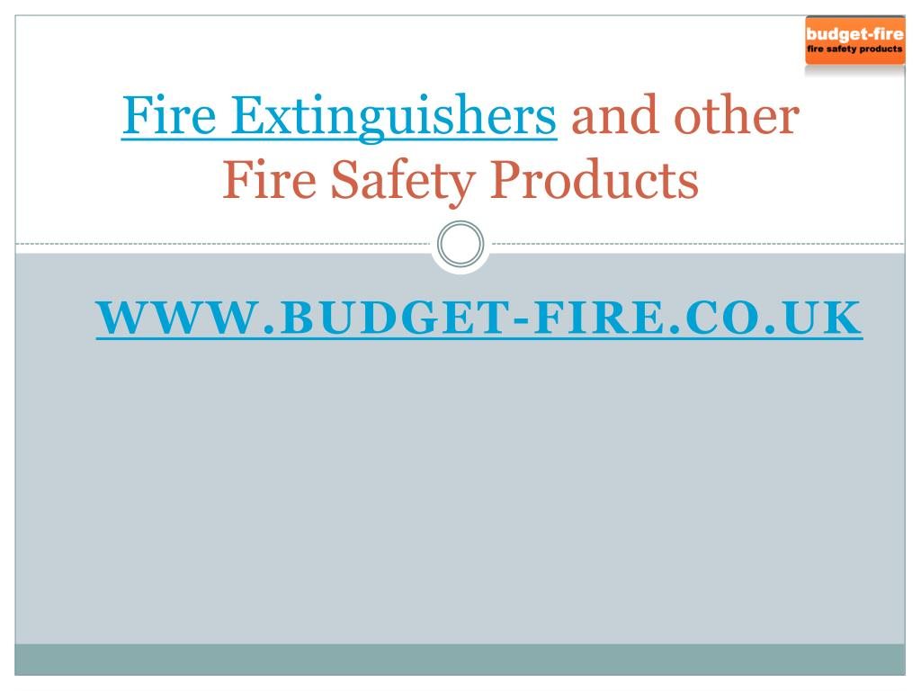 fire extinguishers and other fire safety products l.
