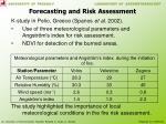 forecasting and risk assessment