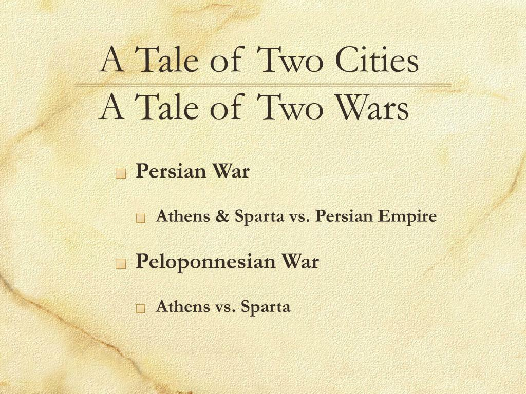 a tale of two cities a tale of two wars l.