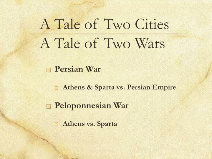 a tale of two cities a tale of two wars n.