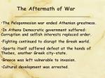 the aftermath of war