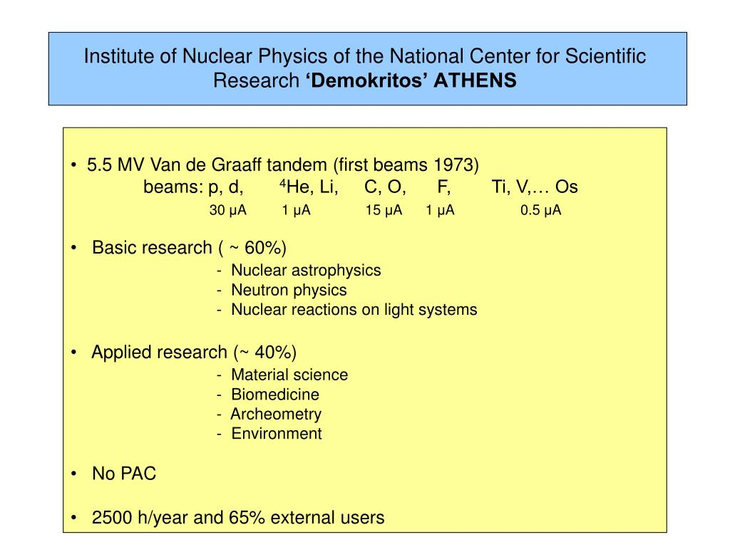 Institute of Nuclear Physics of the National Center for Scientific Research