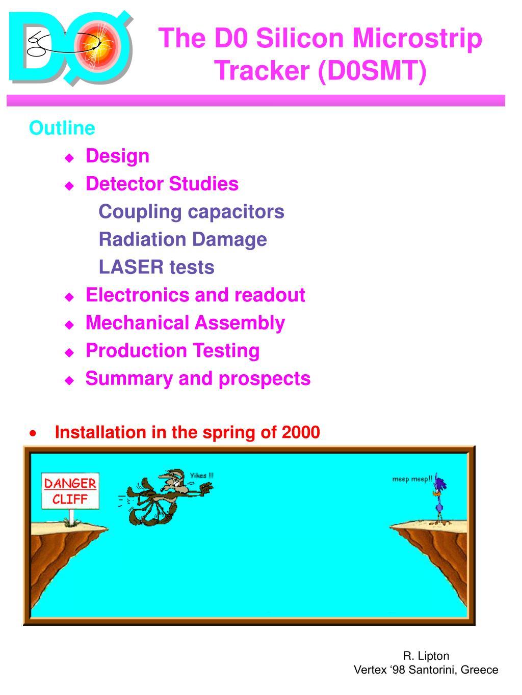 The D0 Silicon Microstrip Tracker (D0SMT)