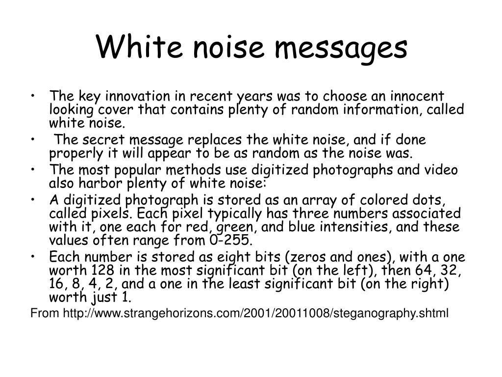 White noise messages