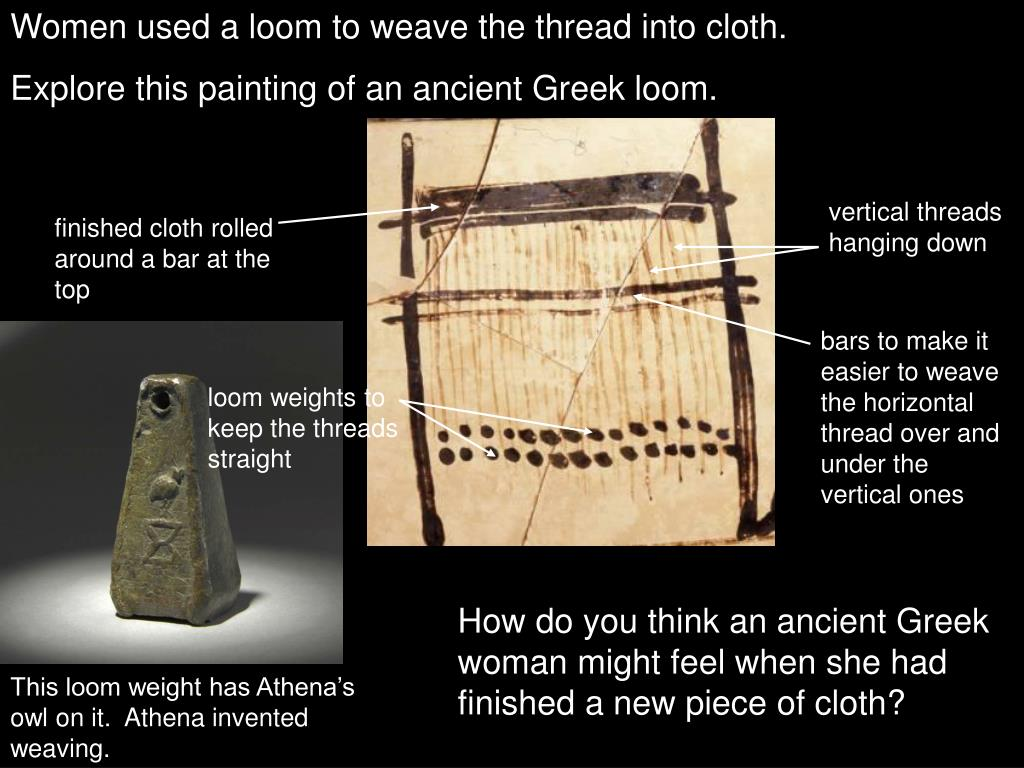 Women used a loom to weave the thread into cloth.