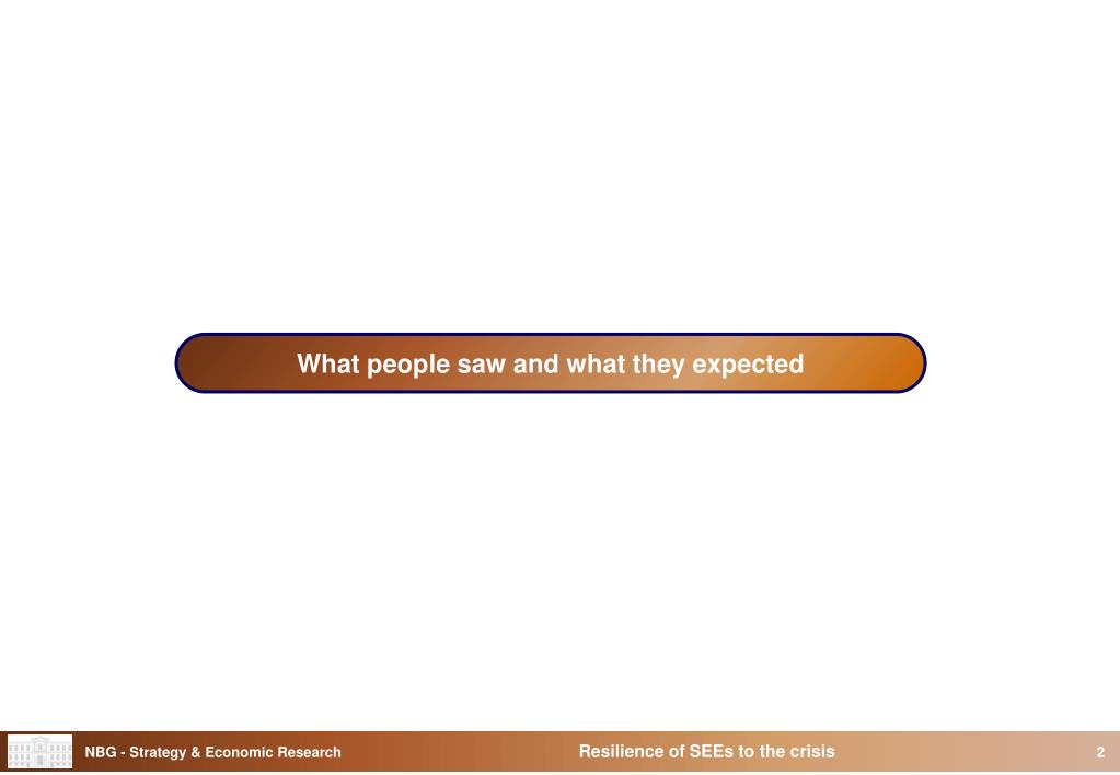 What people saw and what they expected