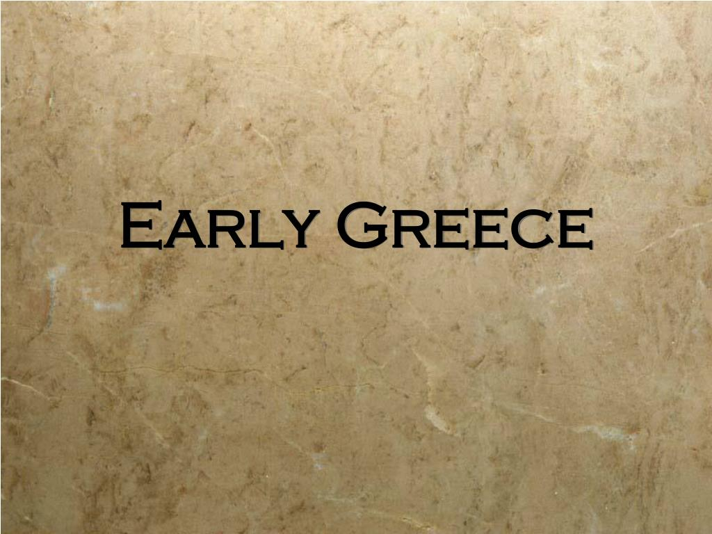 early greece l.