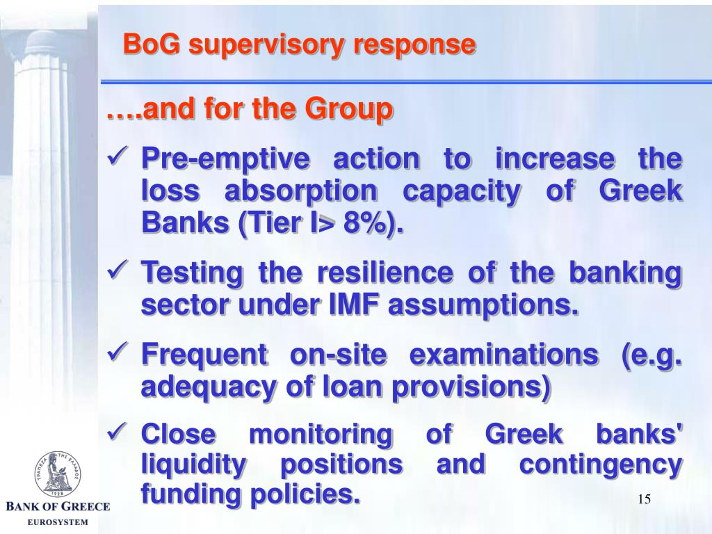 BoG supervisory response