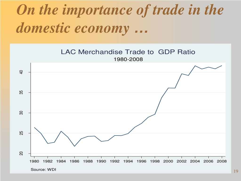 On the importance of trade in the domestic economy