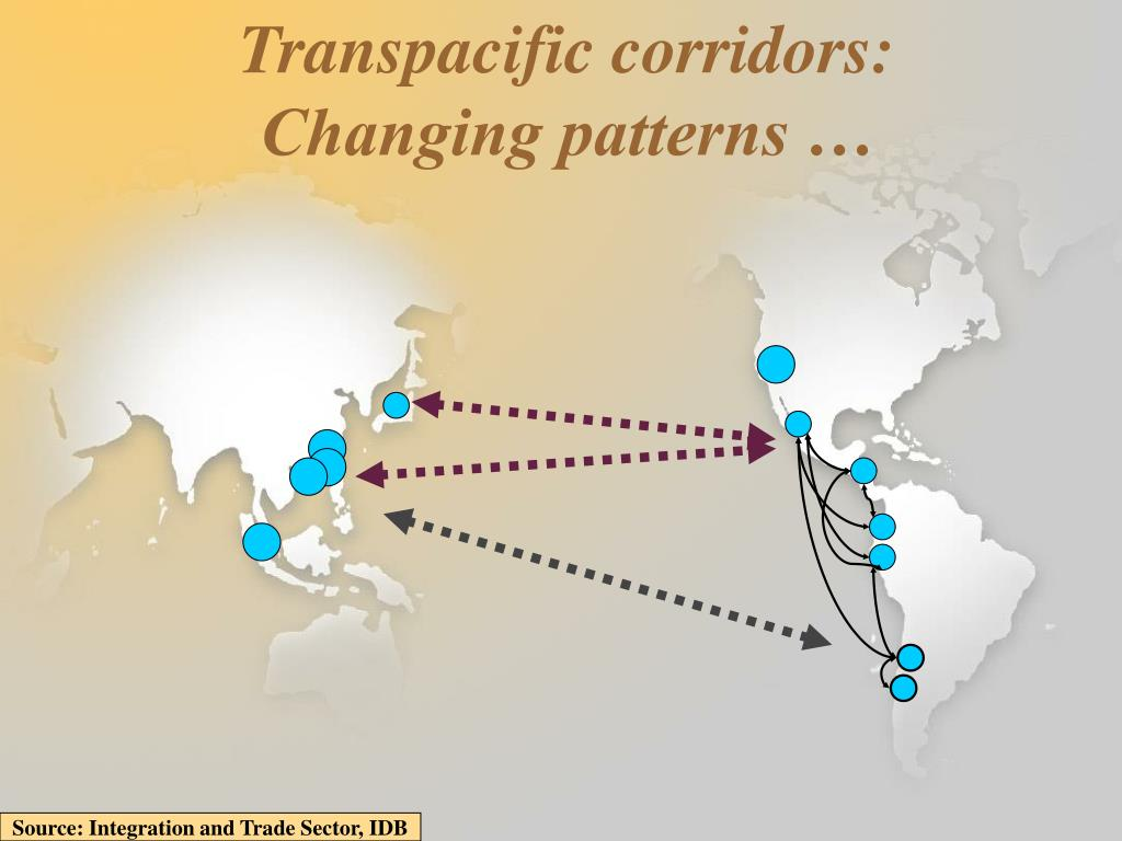 Transpacific corridors: Changing patterns …