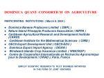 dominica quant consortium on agriculture