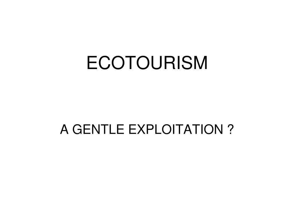 ecotourism l.