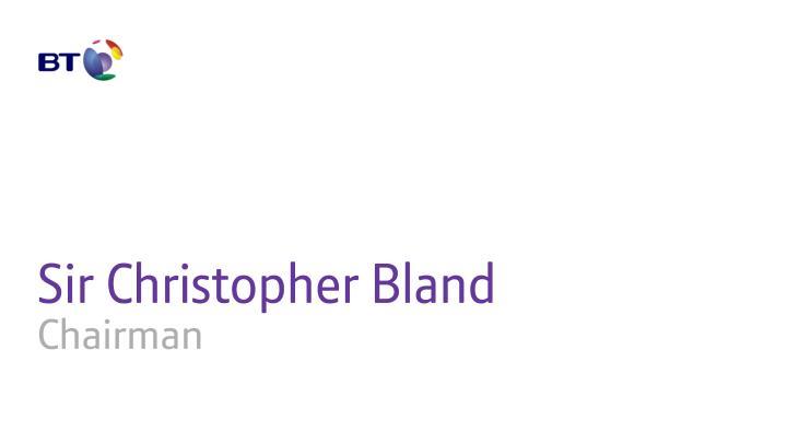 Sir Christopher Bland