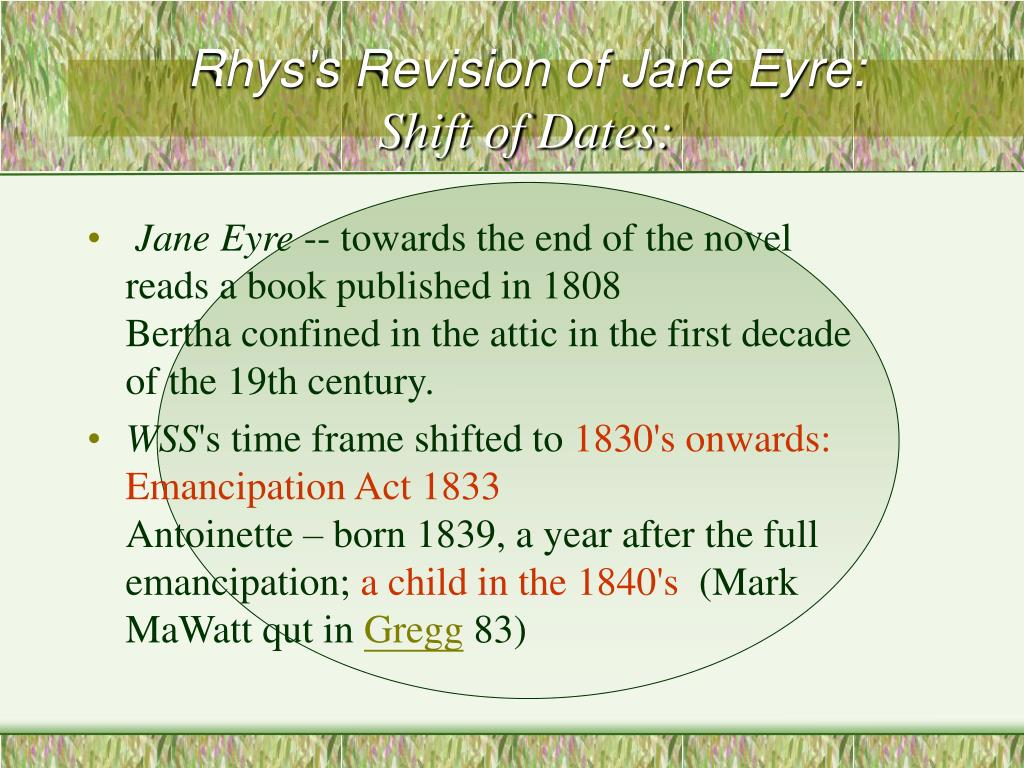Rhys's Revision of Jane Eyre: