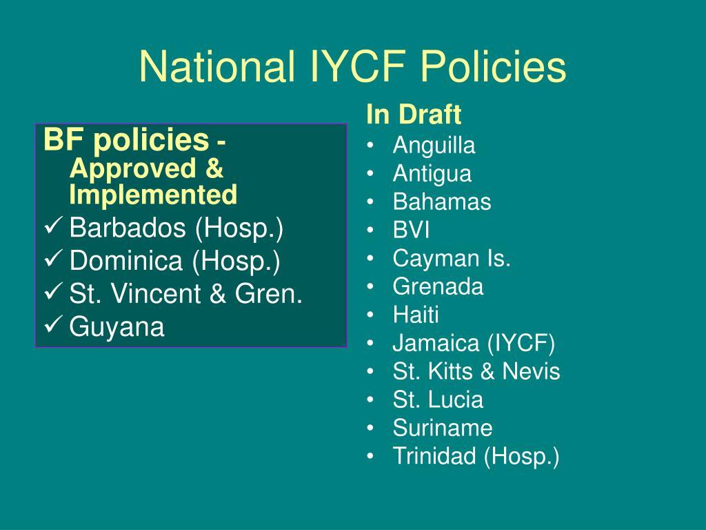 BF policies