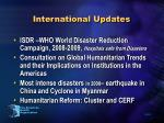 international updates
