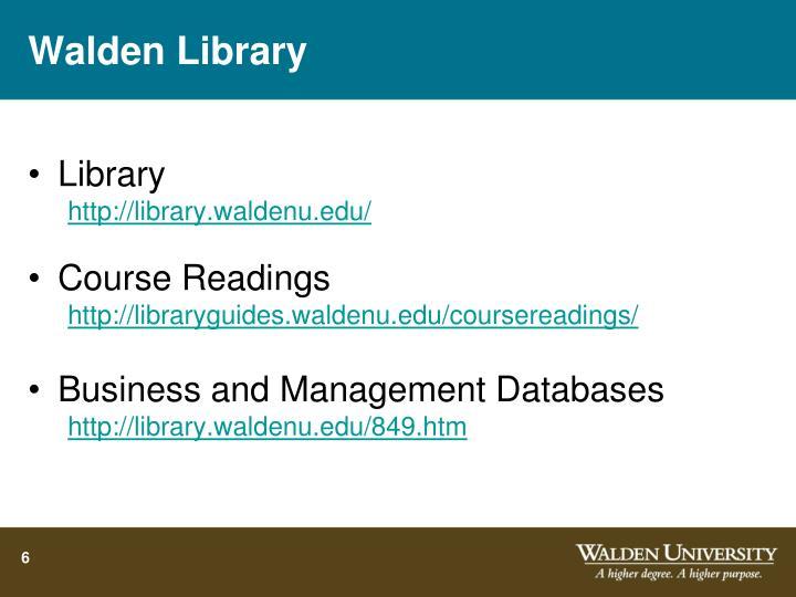 Walden Library