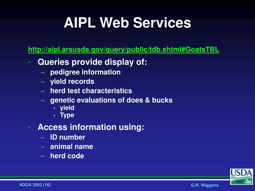 AIPL Web Services