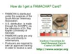how do i get a famacha card