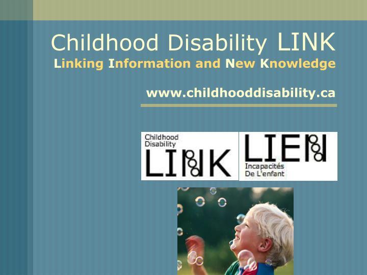 Childhood Disability
