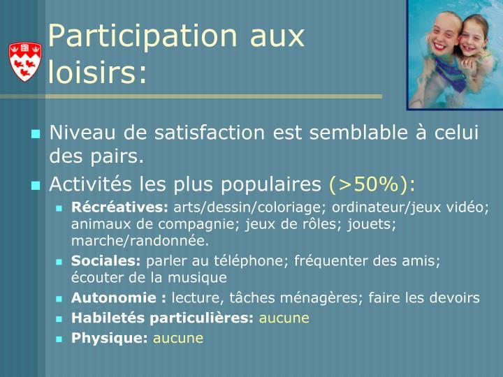 Participation aux