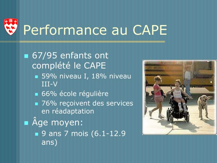 Performance au CAPE