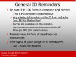general id reminders