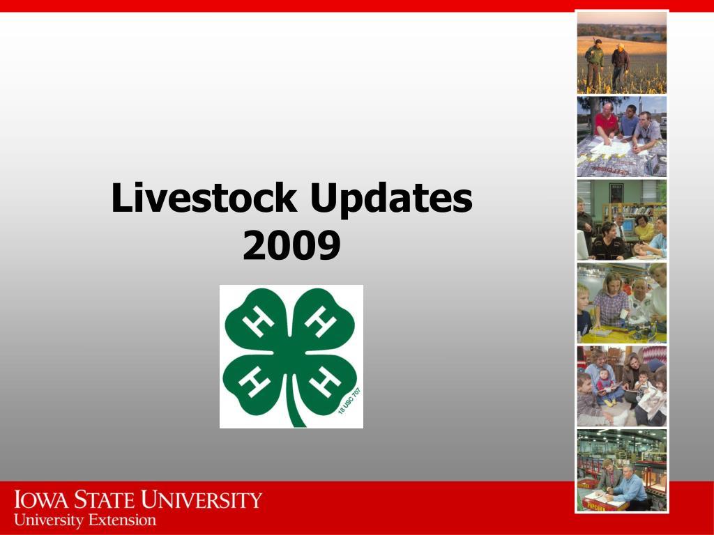 livestock updates 2009 l.