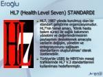 hl7 health level seven standardi