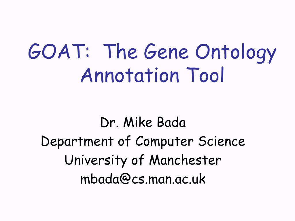 goat the gene ontology annotation tool l.