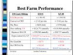 best farm performance