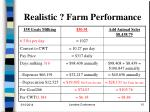 realistic farm performance