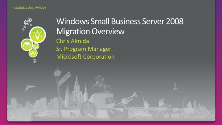 windows small business server 2008 migration overview n.