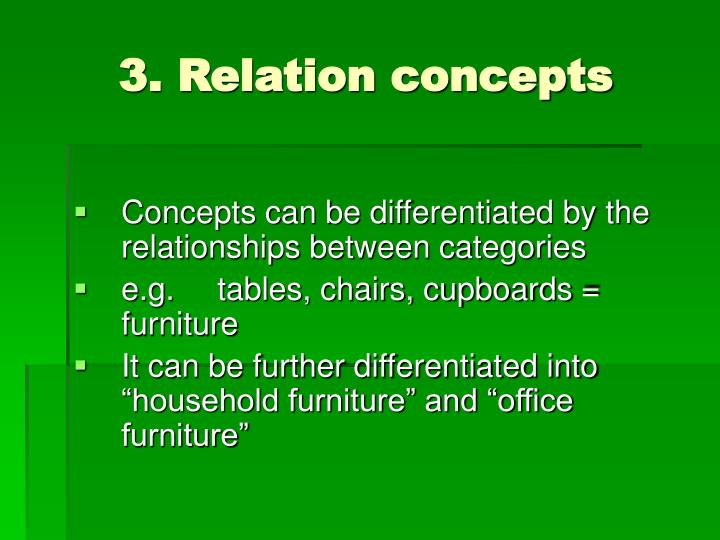 3. Relation concepts