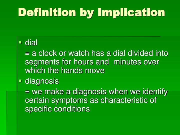 Definition by Implication