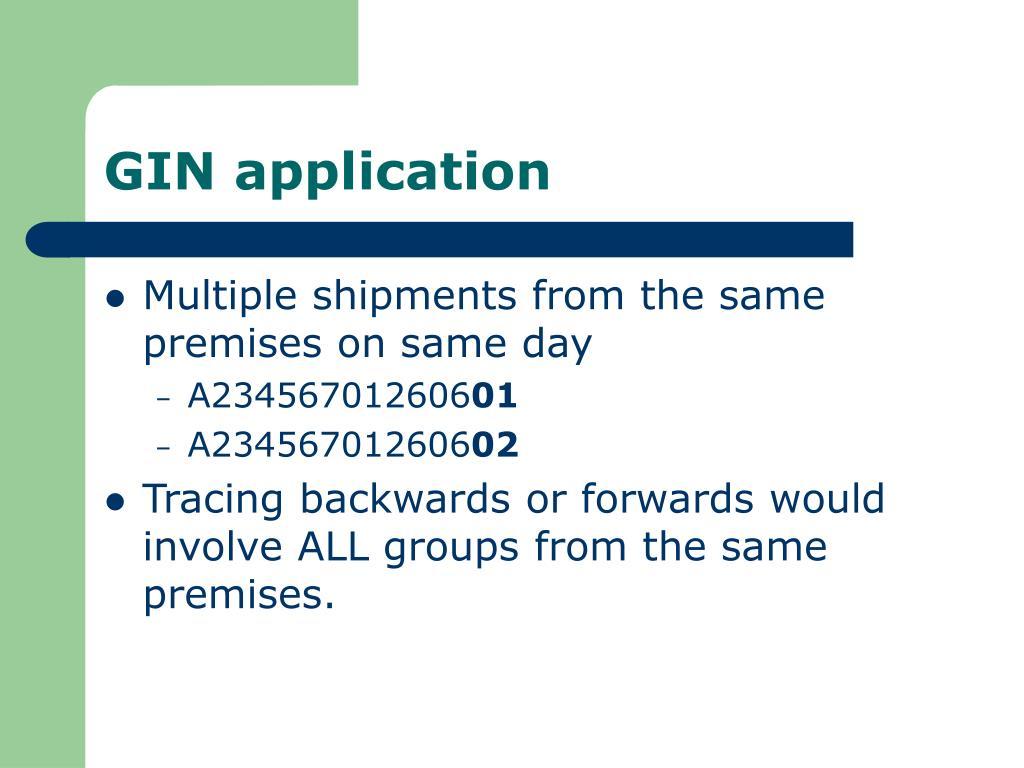 GIN application