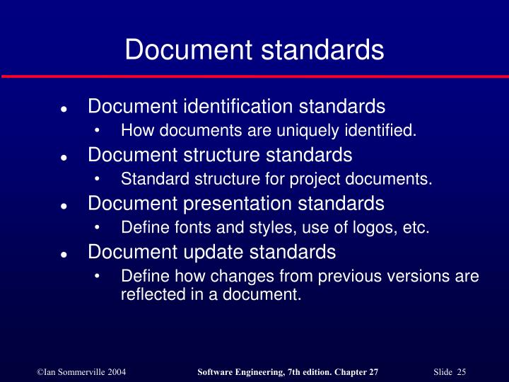 Document standards