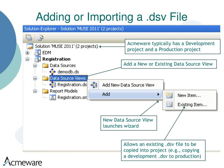 Adding or Importing a .dsv File