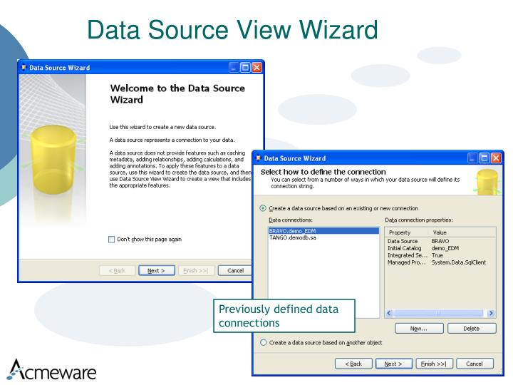 Data Source View Wizard