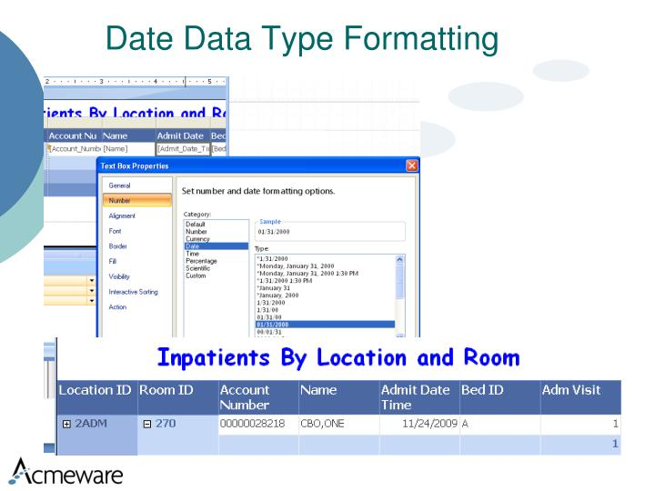 Date Data Type Formatting