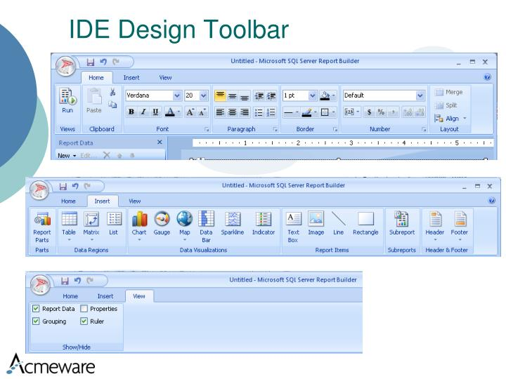 IDE Design Toolbar