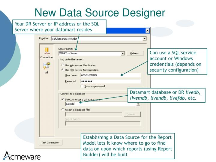 New Data Source Designer