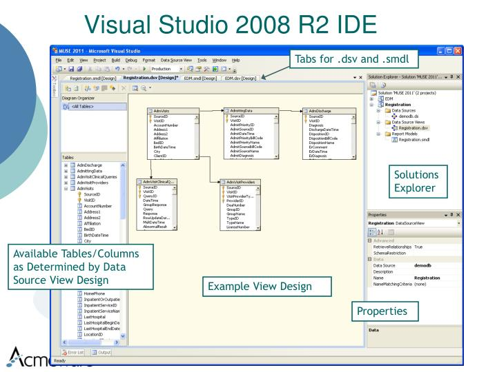 Visual Studio 2008 R2 IDE