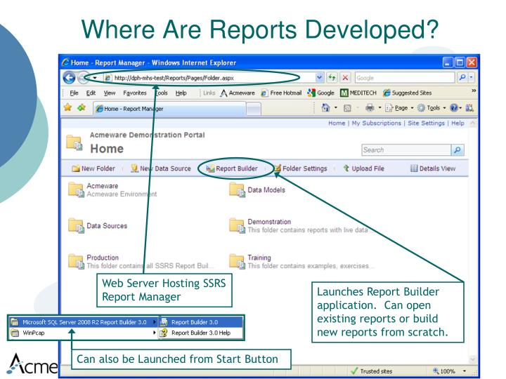Where Are Reports Developed?