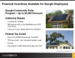 financial incentives available for google employees