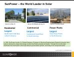 sunpower the world leader in solar