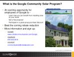 what is the google community solar program