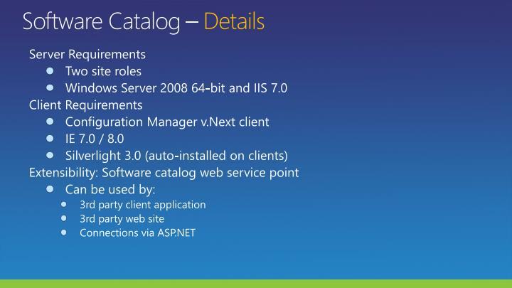 Software Catalog –