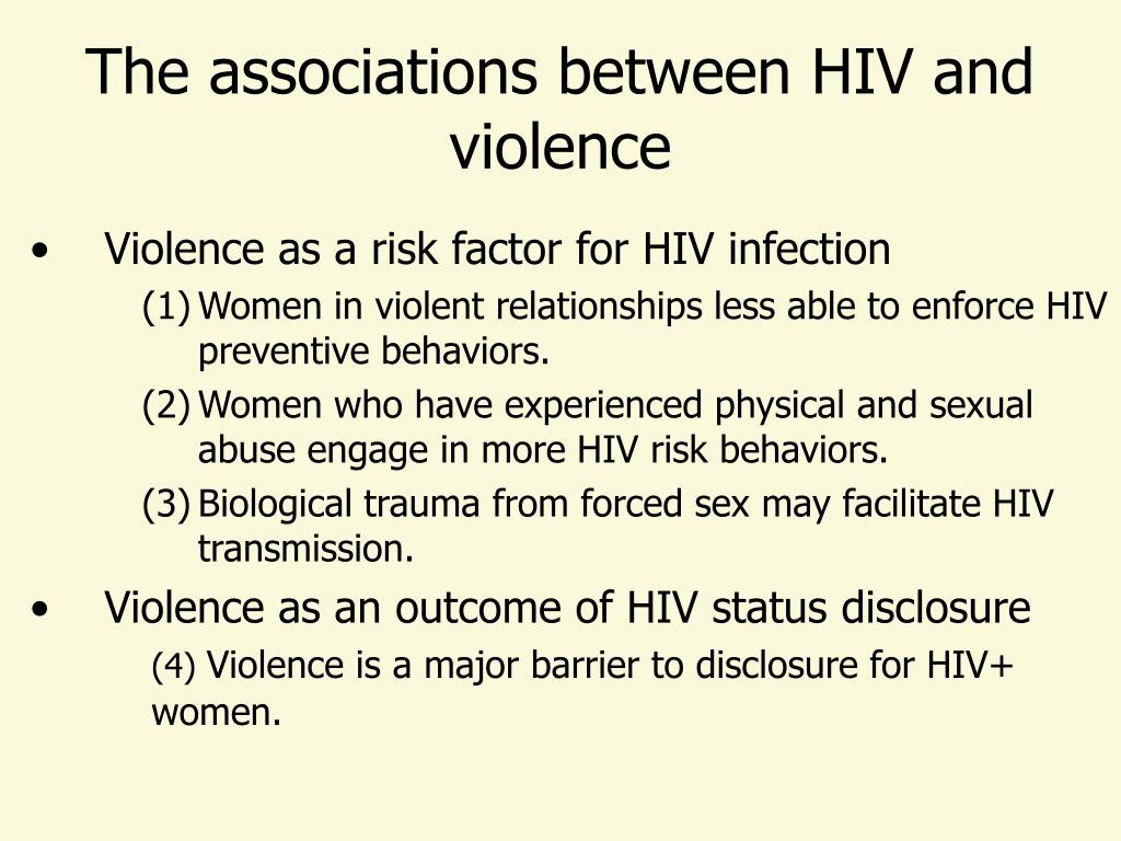 The associations between HIV and violence
