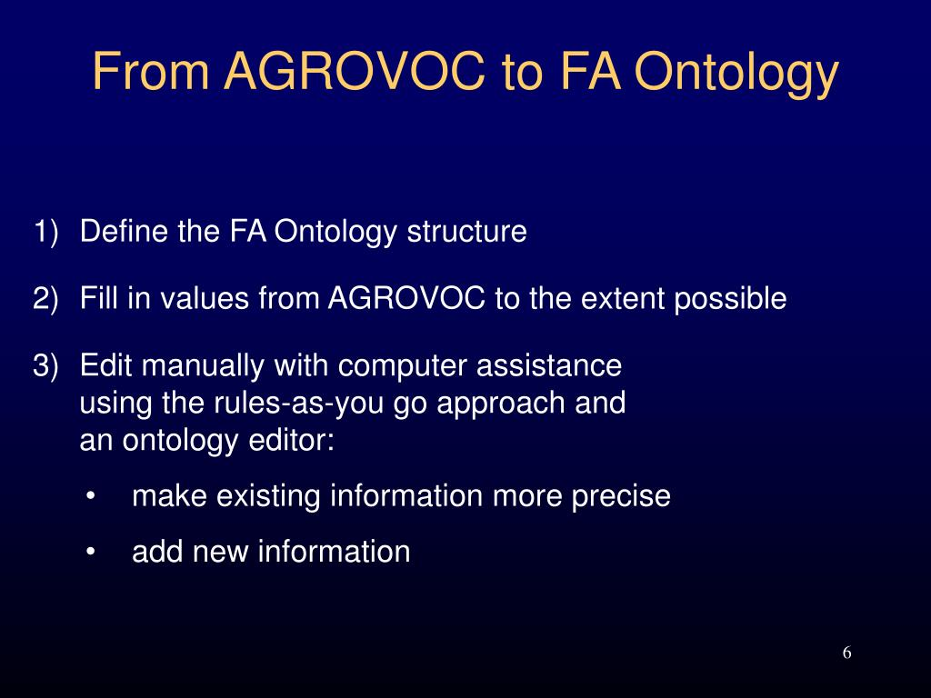 From AGROVOC to FA Ontology